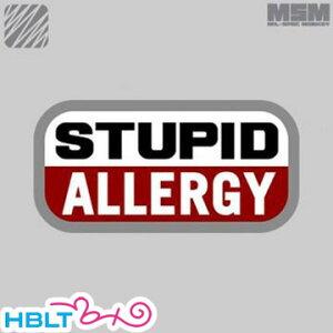 パッチ MSM ミルスペックモンキー Stupid Allergy(刺繍) /ベルクロ パッチ ワッペン ミリタリー サバゲ 装備 MIL-SPEC MONKEY サバゲー/ハロウィン/コスプレ/仮装/衣装