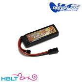 【OPTION No.1(オプションNo.1)】バッテリー HIGH POWER LiPo 2200mAh 7.4V(マルイミニ・コネクター) GB−0012M/マッチド/リポ/Battery/充電式/電池