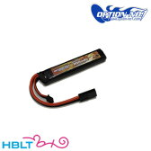 【OPTION No.1(オプションNo.1)】バッテリー BIG POWER LIPo 900mAh 7.4V(マルイミニ・コネクター)|GB−0007M/マッチド/リポ/Battery/充電式/電池