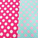 [数量5個から承ります] ドットプリント(3cmドット) ブロード キルティング生地 約105cm幅×10cm単位計り売り| コットン プリント キルト 中綿 水玉 ドット コインドット レッスンバッグ 通園 通学 入園 入学 女の子 手芸 ハンドメイド 手作り