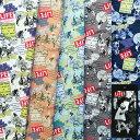 [数量5個から承ります] 廃盤 特価 LIFE TEXTILE ポップシティプリント1 綿オックス生地 日本製 約110cm幅×10cm単位計り売り【在庫限り】  コットン プリント オックスフォード ライフマガジン アメリカン レトロ ヴィンテージ ポップアート ハンドメイド 手芸