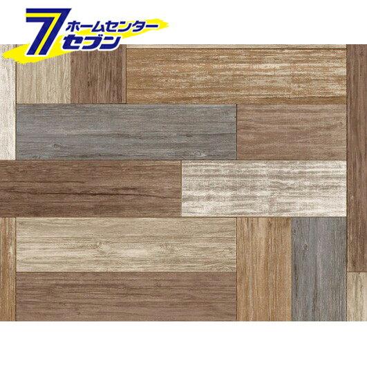 床用シート REN-01 ペンキ組み木 BR 明和グラビア [貼ってはがせる 床 リノベーション 賃貸住宅 模様替え]