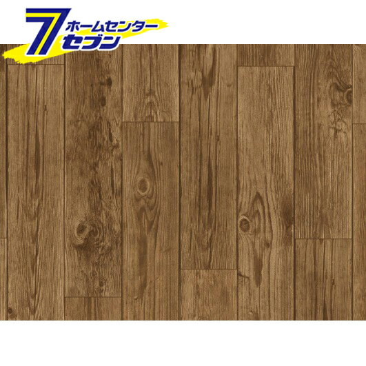 床用シート REN−03 アンティーク木 BR 明和グラビア [貼ってはがせる 床 リノベーション 賃貸住宅 模様替え]