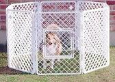 アイリスオーヤマ 【送料無料】 ペットサークル H-908 ホワイト ≪h908 犬舎 大型犬 犬小屋 屋外 中型犬 ペットハウス サークル 犬 ハウス≫