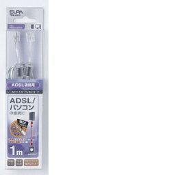 朝日電器 ADSLシールドツイスト6極2芯1m TEW−A010