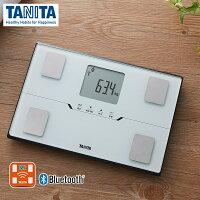 タニタ体重計体組成計スマホ連動BC-768-WHパールホワイト白コンパクト薄型アプリ対応bluetooth健康管理体重体脂肪計見やすいTANITA