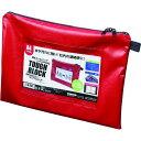■マグエックス 耐水メールバッグA4(マチなし)赤〔品番:MPOA4R〕【1584560:0】