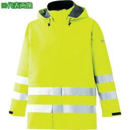 ■ミドリ安全 雨衣 レインベルデN 高視認仕様 上衣 蛍光イエロー 3L〔品番:RAINVERDENUEY3L〕【8357362:0】
