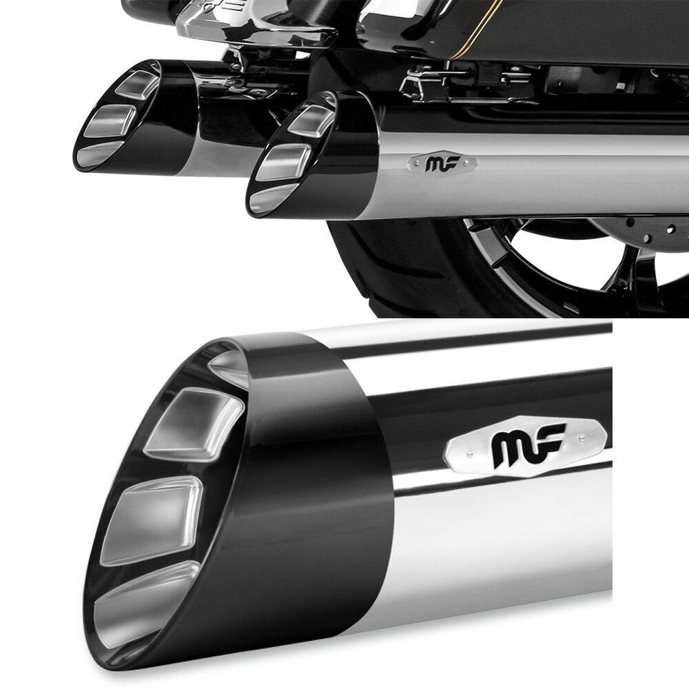 Magnaflow ソフテイル HITMAN 4 5インチ クローム/ブラック
