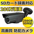 【防犯カメラ】【SDカード録画】 屋外用 ハイビジョン200万画素 防犯カメラ 監視カメラ 【HDC-010SD】