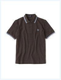 FREDPERRYフレッドペリー/ラインポロシャツ(M12N)ChocolatexIcexIce-国内送料無料-