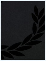 FREDPERRYフレッドペリー/フロッキープリントリンガーTシャツ(M3520)Black
