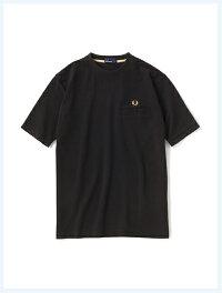 FREDPERRYフレッドペリー/カノコポケットTシャツ(F1674)Black