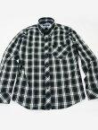 NEVERTRUSTネバートラスト/タータンチェックボタンダウンシャツ(NEN-99101)WhitexGreenxNavy-国内送料無料-