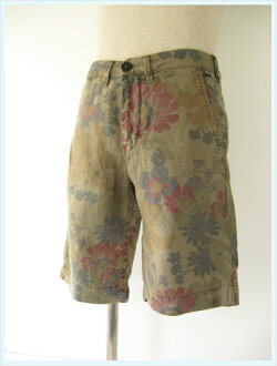 PRETTY GREEN(之前蒂格列安)/亞麻布短褲(FLORAL LINEN CITY SHORT)Stone