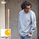 carhartt カーハート ロンT CRHTT-K231 メンズ Tシャツ 長袖 長袖Tシャツ 袖ロゴ ロゴ ロングスリーブ プリントTシャツ ロンT アメカジ リブ プリント カジュアル