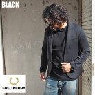 FREDPERRYフレッドペリージャケットテーラードジャージTAILOREDJERSEYF2543メンズテーラーインポートセットアップジャージ素材ワンポイントブラック黒アメカジシンプル無地きれいめ