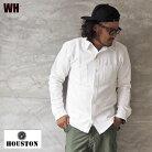 HOUSTONヒューストンソリッドビエラシャツ40626メンズ長袖シャツワークシャツビエラシャツネルシャツアメカジワーク無地長袖シャツネル黒白グレーイエロー