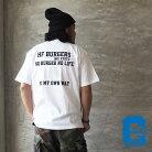CALIFORNIABLUEカリフォルニアブルーTシャツメール便可HFBURGERS半袖TシャツCBS-033メンズレディース半袖TシャツプリントロゴプリントTシャツバックプリントアメカジカリフォルニアCALIF黒白カーキ