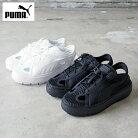 PUMAプーマミュールサンダルプラットフォームトレースライトミュール382872レディーススニーカー靴シューズくつスポーツサンダルスポサンローカット黒白厚底カジュアルアウトドアシンプルおしゃれ