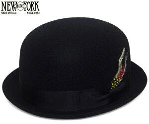 ニューヨークハット (NEWYORKHAT) [ボーラーハット] フェルト ダービーハット #5002 LAUREL DERBY, Black(ローレルダービー - ブラック) [ ハット 帽子 NEW YORK HAT メンズ レディース ]【商品到着後にレビューを書くと送料無料!】