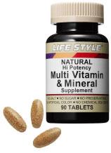 【代引き用ページ】ライフスタイル マルチビタミン&ミネラル 90錠 3個