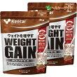 ケンタイプロテインウエイトゲインアドバンスミルクチョコ風味3kg×2個セット【健康体力研究所(kentai)】