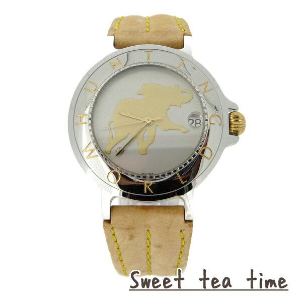 10倍4/22 ハンティングワールド腕時計メンズHUNTINGWORLD舶来時計自動巻シルバー文字盤ウオッチHWM-14正規品
