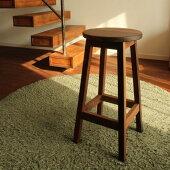 スツール木製無垢材スツール木製スツールパイン材スツールナチュラル椅子パイン材家具チェアーナチュラルインテリア【ハイスツール/ウォールナット材】