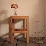 スツール(持ち手つき)・スクエアタイプ/オーク材木製スツール北欧スツール家具オーク材無垢材椅子