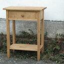 [はーとぼっくす工房オリジナル家具]電話台やサイドテーブルとして大活躍。ミニテーブル/棚板付...