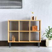 アイアンオープンシェルフ/オーク材本棚インダストリアルアイアンアンティーク家具リビングボード収納家具北欧ビンテージ