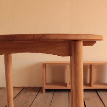 ラウンドテーブル/アルダー材(直径80cm)北欧家具