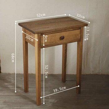 [ミニテーブル,オーダー家具,電話台,サイドテーブル,北欧家具ビンテージ,北欧,木製]ミニテーブル/パイン材[sidetable03]