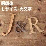 木製 アルファベット 明朝体・Lサイズ(高さ17.5cm基準)・大文字