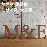 無垢材アルファベット・明朝体 Lサイズ(高さ17.5cm基準) 大文字