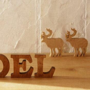 無垢材木製アルファベット無垢材・ミニ自立タイプ『NOEL』[メール便で送料無料!]北欧雑貨クリスマス置物オブジェインテリア木製オブジェX'mas北欧ノエル