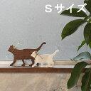 【スーパーSALE限定クーポン発行中!】キャット シルエット 木製 Sサイズ (全3色)送料無料