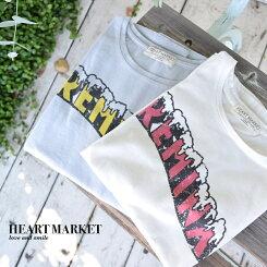 CREMINEプリントワイドTeeレディース/トップス/Tシャツ/ジワイド/プリント/ゆったり/フリー/夏/カジュアル【HEARTMARKET・ハートマーケット】