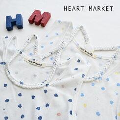 手書きドット三つ編みタンクレディース/インナー/水玉/タンクトップ/フリーサイズ/春/夏【HEARTMARKET・ハートマーケット】