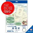 ◆まとめ買い◆5パック(50枚)で2割引き◆ブライダル 【A5 招待状】10枚入り インクジェットプリ...