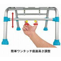 幸和製作所テイコブシャワーチェア背なしタイプ/SC02ブルー