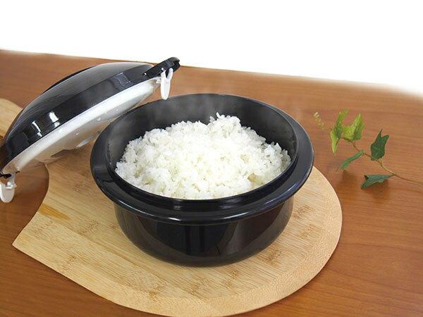 【代引き不可】圧力弁でおいしく炊ける 電子レンジ用炊飯器×4個セット