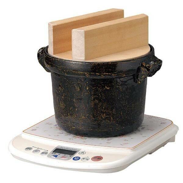 117-9 IH対応 電磁用ごはん鍋 5合用 白木蓋付ご注文後2〜3営業日後の出荷となります:ハートドロップ