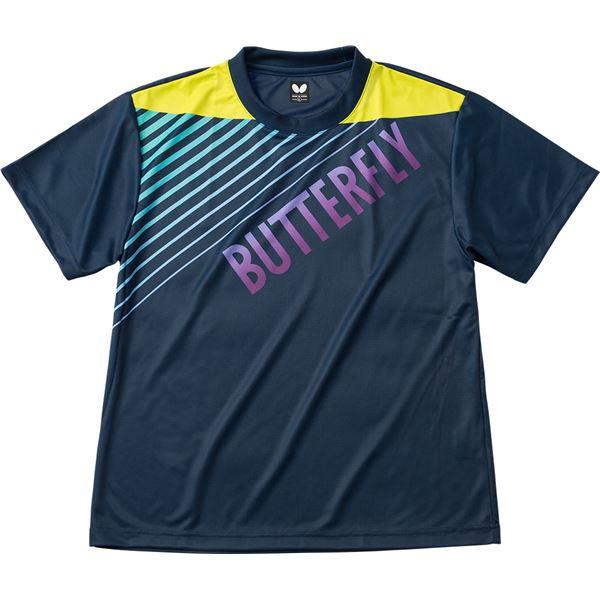 バタフライ(Butterfly) 男女兼用Tシャツ グラデイト・Tシャツ 45090 ネイビー M