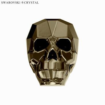 SWAROVSKI スワロフスキー ビーズ 髑髏 5750 13mm クリスタルメタリックライトゴールド2X (1個入)