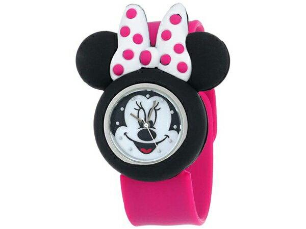 Disney ディズニー ミニー・マウス 子供用腕時計 リボン (ピンク) ラバー・バンド おすすめです♪