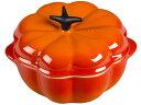 Le Creuset ル・クルーゼ プチ・パンプキン・キャセロール (オレンジ) 陶器製ミニ・パンプ ...