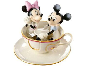 Lenox レノックス ディズニー・フィギュア ミッキーとミニー Mickey's Teacup Twirl24Kアクセント白磁フィギュア おすすめです♪