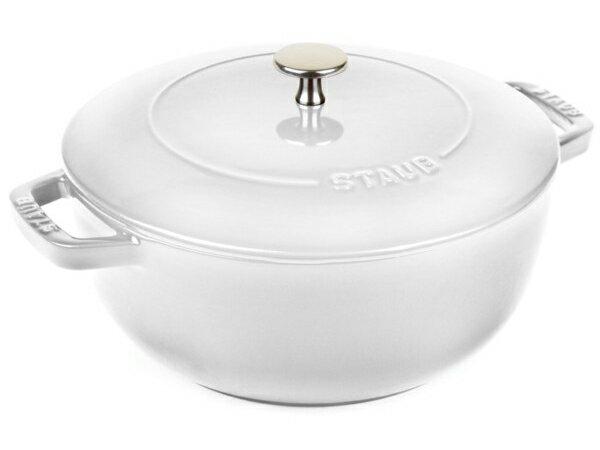 Staub ストウブ Wa-NABE Lサイズ 24cmエッセンシャル・オーブン (ホワイト) La cocotte de WA-NABE 3.75QT おすすめです♪:輸入セレクトショップハートランド